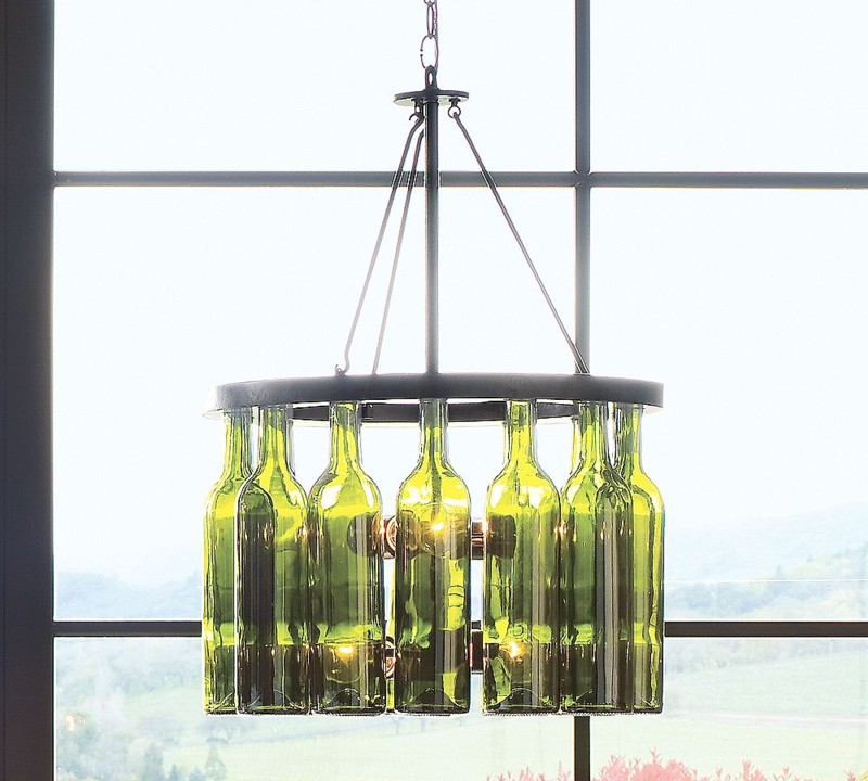 Pottery Barn Wine Bottle Chandelier