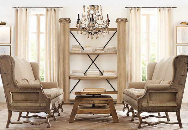 Neutral Drapes Courtesy Restoration Hardware