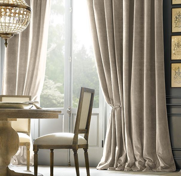 Velvet Curtains Courtesy Houzz