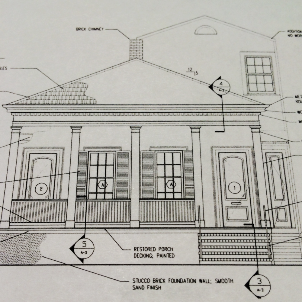exterior architectural drawing