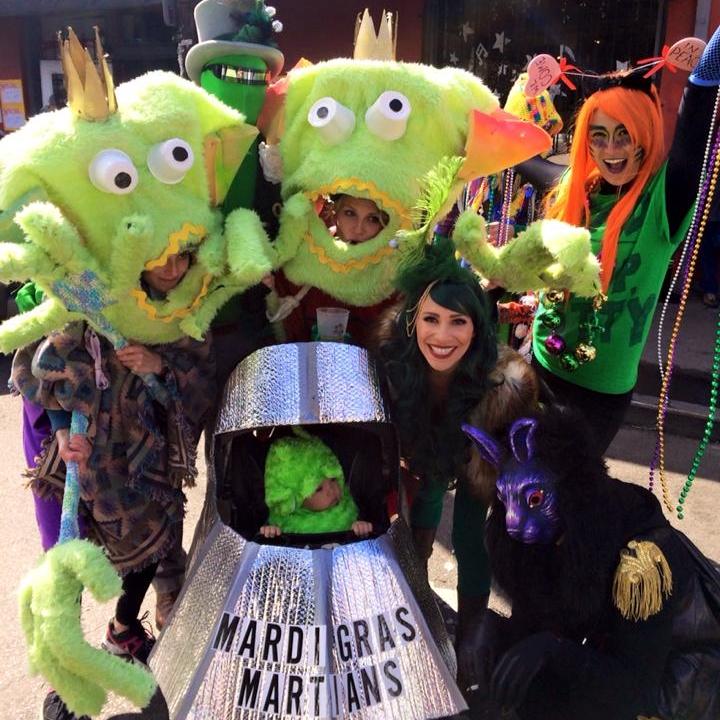 Mardi Gras martians family costume