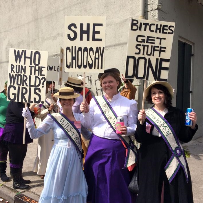 Modern day suffragettes  sc 1 st  Anne Cutler : feminist halloween costumes ideas  - Germanpascual.Com