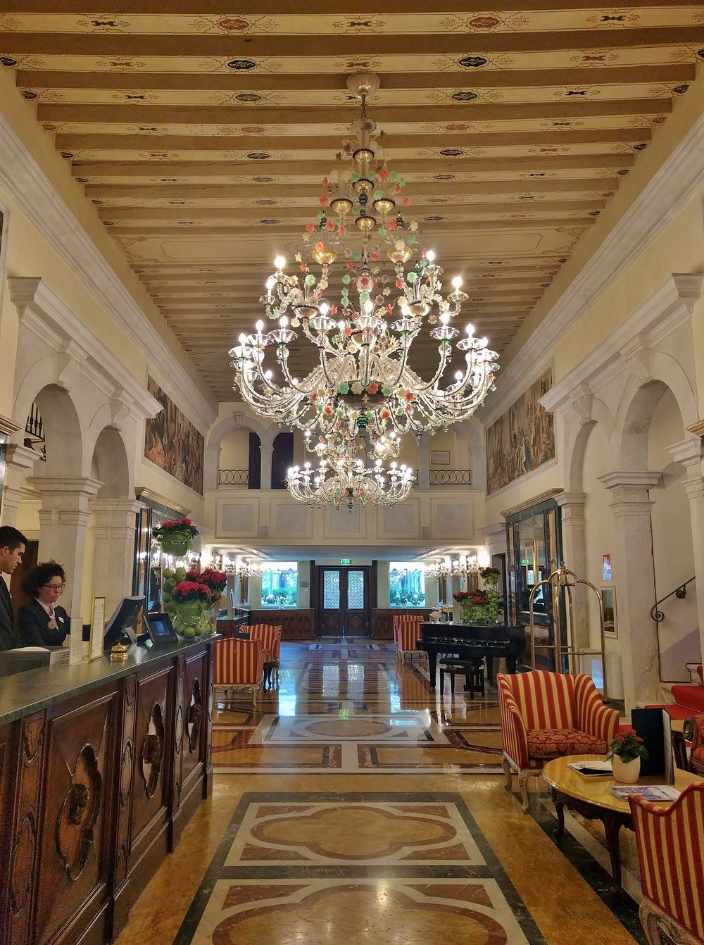 Lobby of the Boscolo Venezia in Venice
