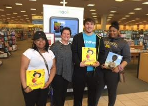 Heroic Leadership Academy students at Barnes and Noble in Flint purchasing heroic Children's Books!