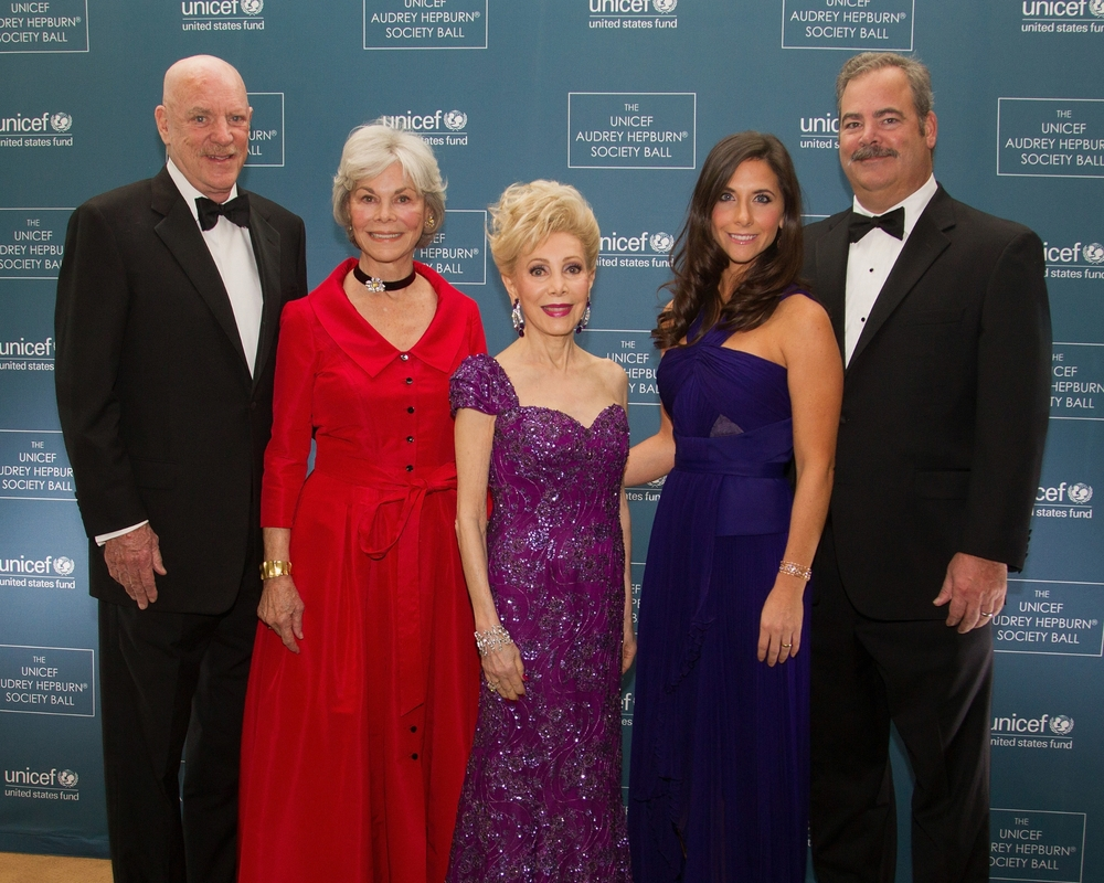 Robert McNair, Janice McNair, Margaret Alkek Williams, Hannah McNair and Cal McNair attend The 2nd Annual UNICEF Audrey Hepburn® Society Ball at the Wortham Center on October 14, 2014 in Houston, Texas. (Photo by Bob Levey/Getty Images for U.S. Fund for UNICEF)