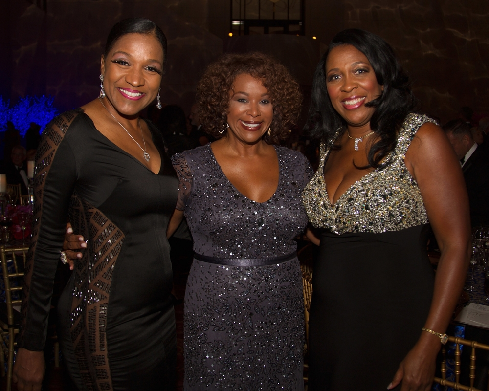 Deborah Duncan (center) attends The 2nd Annual UNICEF Audrey Hepburn® Society Ball at the Wortham Center on October 14, 2014 in Houston, Texas. (Photo by Bob Levey/Getty Images for U.S. Fund for UNICEF)