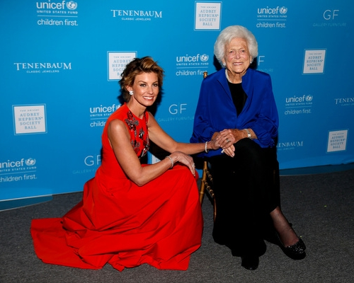 Faith Hill and Barbara bush at The 2015 UNICEF Audrey Hepburn® Society Ball   in Houston, Texas.