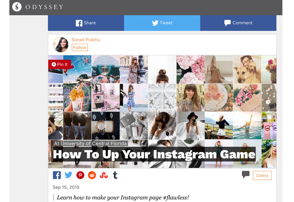 Odyssey Online Top Instagram feature