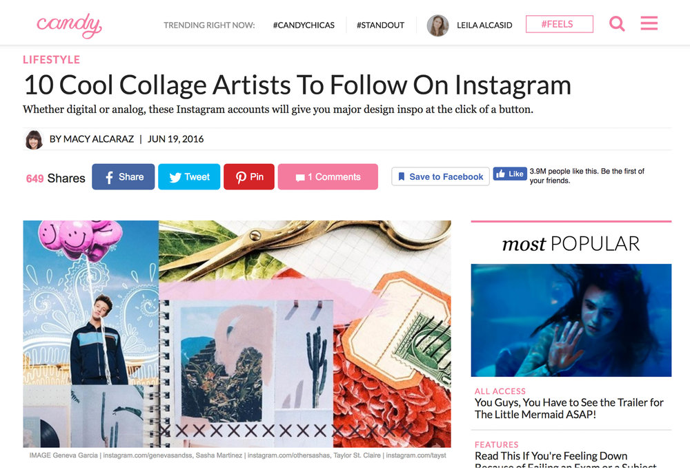 Candy Magazine Top 10 Instagram