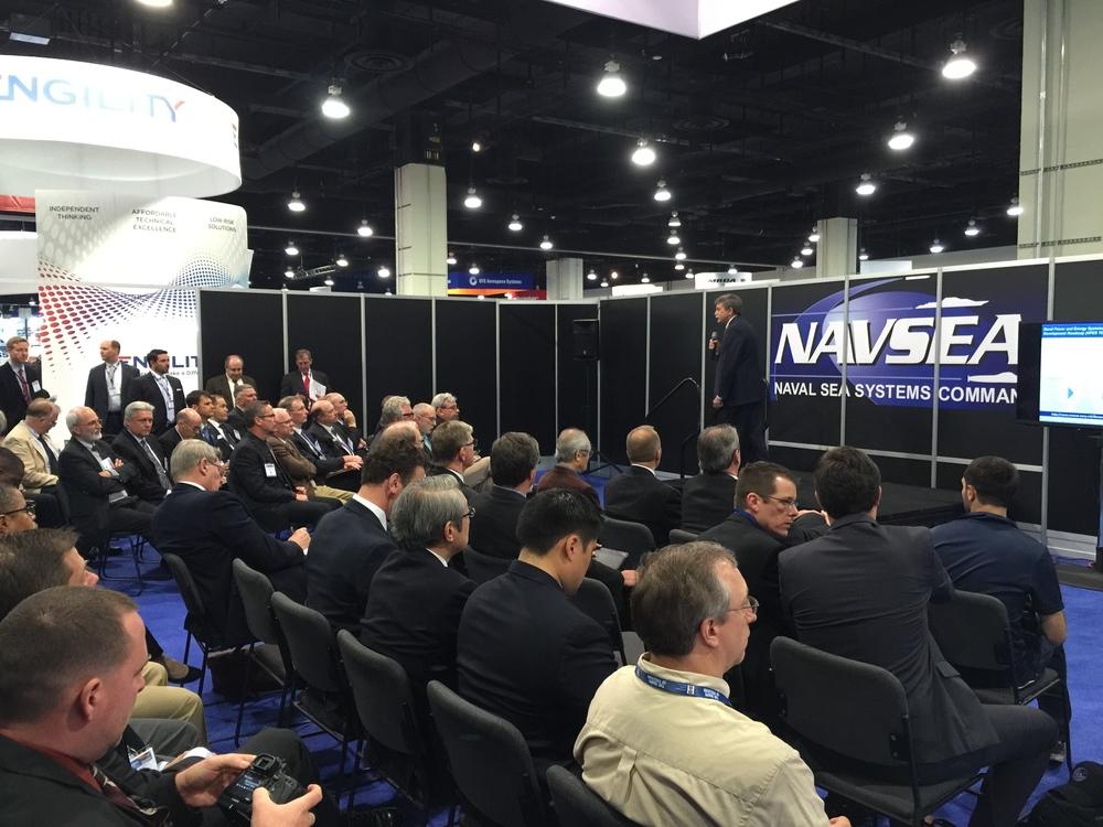 NAVSEA booth SAS