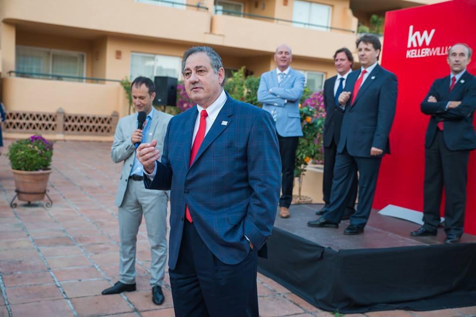 Bill Soteroff (Presidente KW en el Mundo) en la Presentación Oficial de Keller Williams España