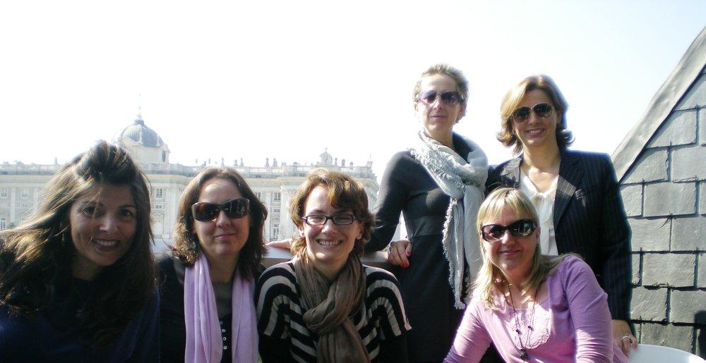 Natalia con un grupo de amigas desde hace 30 años...