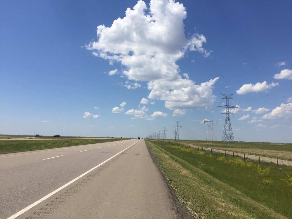 Heading west from Medicine Hat, AB