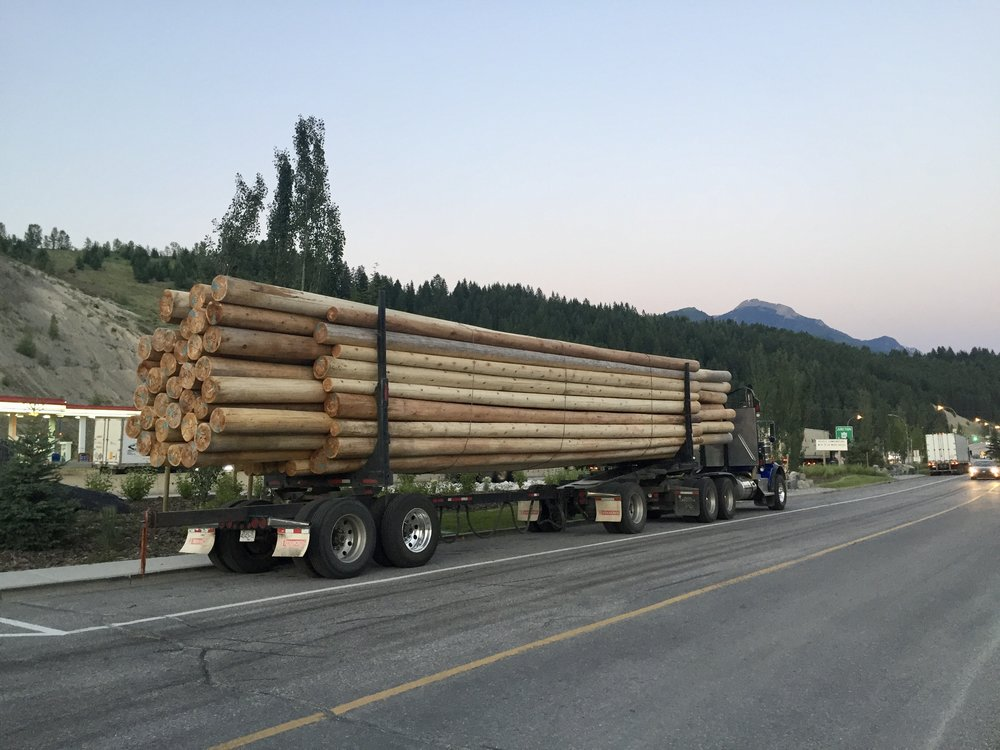 Logging truck in Golden