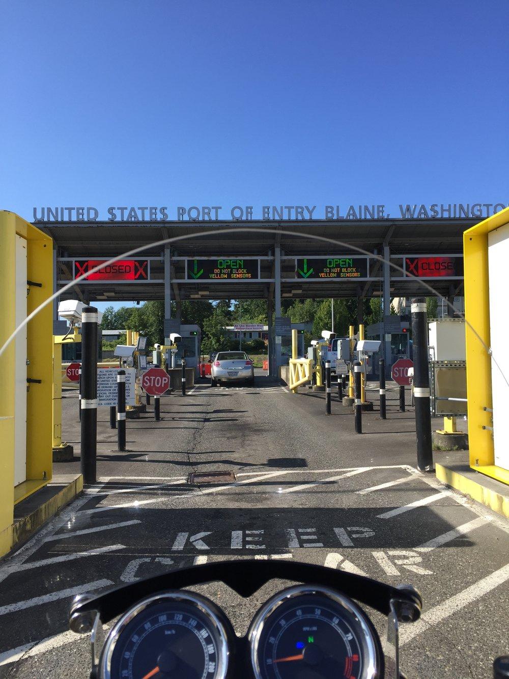 USA Border south of Vancouver BC