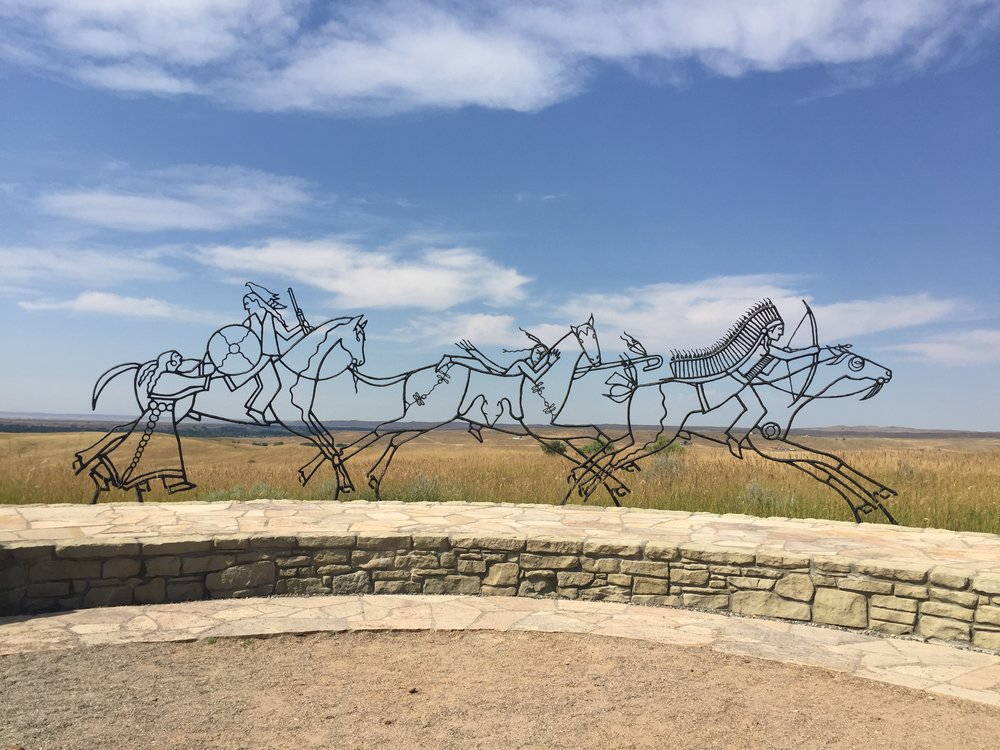 Art representing the Indians at Little Big Horn