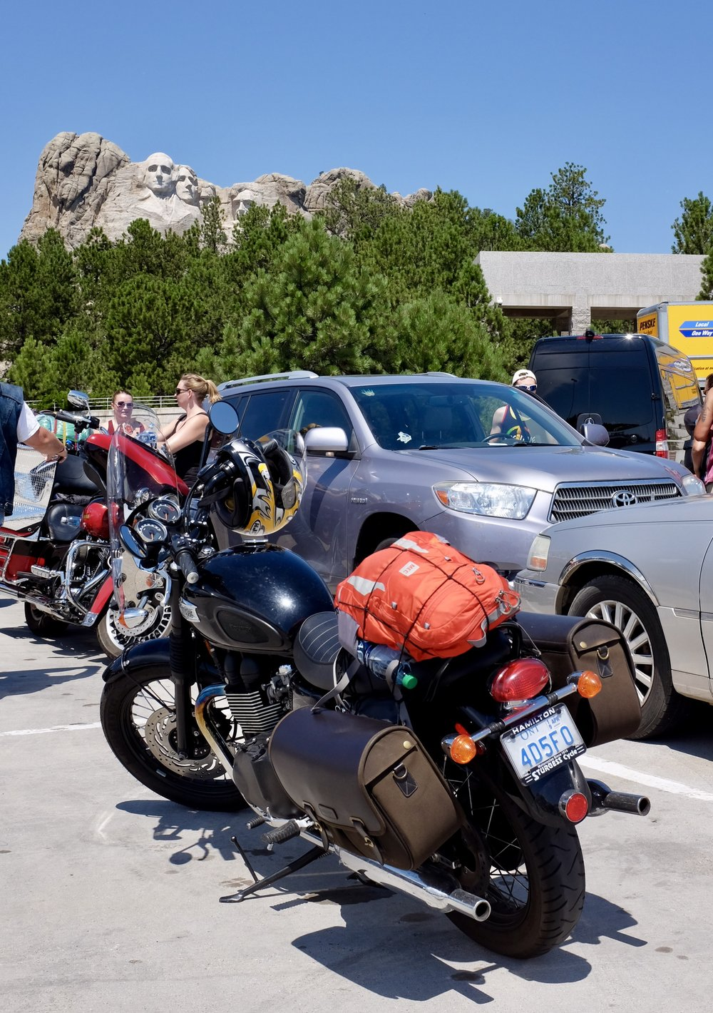 Parking lot - Motorcycles get preferred parking
