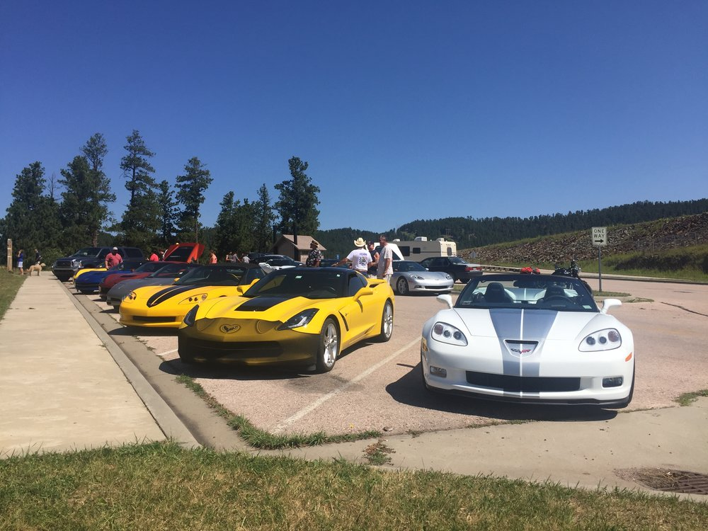 Corvettes on the way to Mt. Rushmore