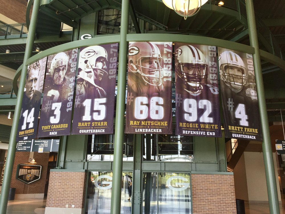 Retired numbers of Green Bay players