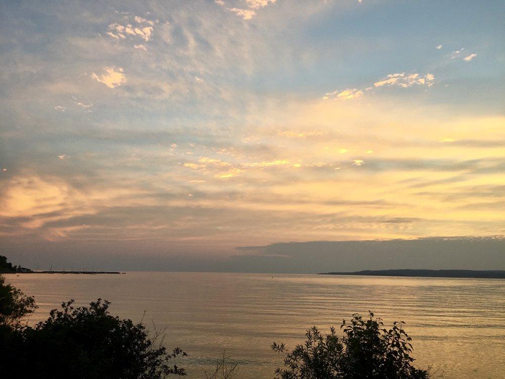 The sunset on Lake Michigan