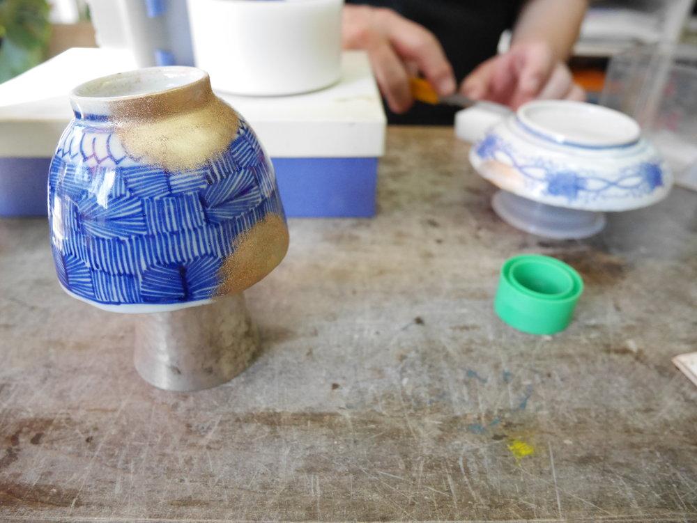 Kintsugi workshop at Kuge Craft studios, Tokyo