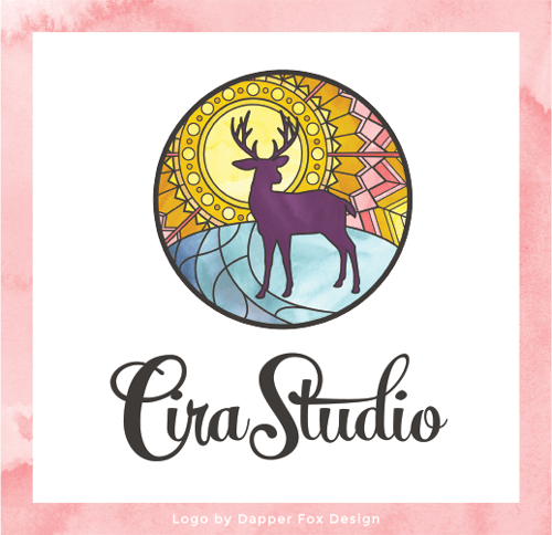 Cira Studio Logo Design by Dapper Fox Design // Website Design - Branding - Logo Design - Entrepreneur Blog and Resource