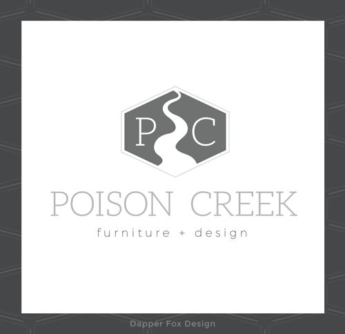 Portfolio Branding Project - Poison Creek Furniture and Design - Logo, Branding and Website Design for Entrepreneurs by Dapper Fox Design