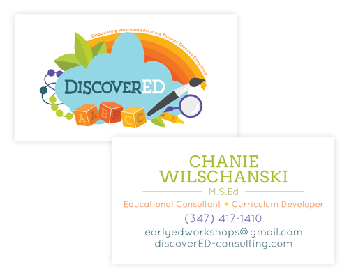 Business Card Design for DiscoverED Consulting - Website Design, Branding and Logo by Dapper Fox Design - A creative resource for Entrepreneurs