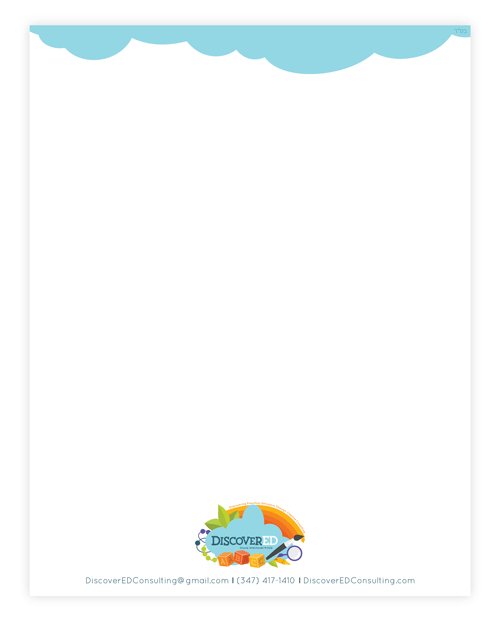 Letterhead Design for DiscoverED Consulting - Website Design, Branding and Logo by Dapper Fox Design - A creative resource for Entrepreneurs