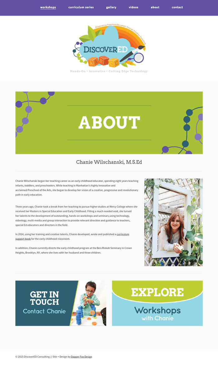 Website Design 4 for DiscoverED Consulting - Website Design, Branding and Logo by Dapper Fox Design - A creative resource for Entrepreneurs