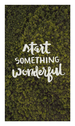 'Start Something Wonderful ' Trees Photo Free photos, graphics, and resources for bloggers by Dapper Fox Design - Free printables and iphone backgrounds for entrepreneurs and bloggers.