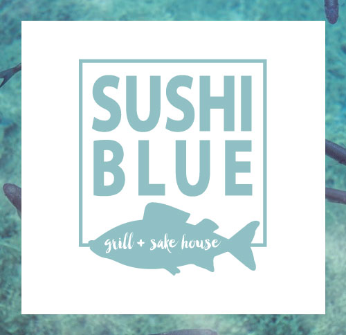 Sushi Blue Park City - Restaurant Branding and Logo Design by Dapper Fox Design