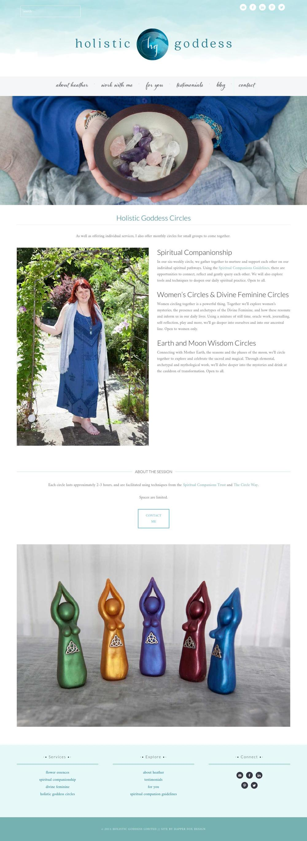 Holistic Goddess Website Design by Dapper Fox Design - Modern Website Design, blue, elegant, sleek, ocean