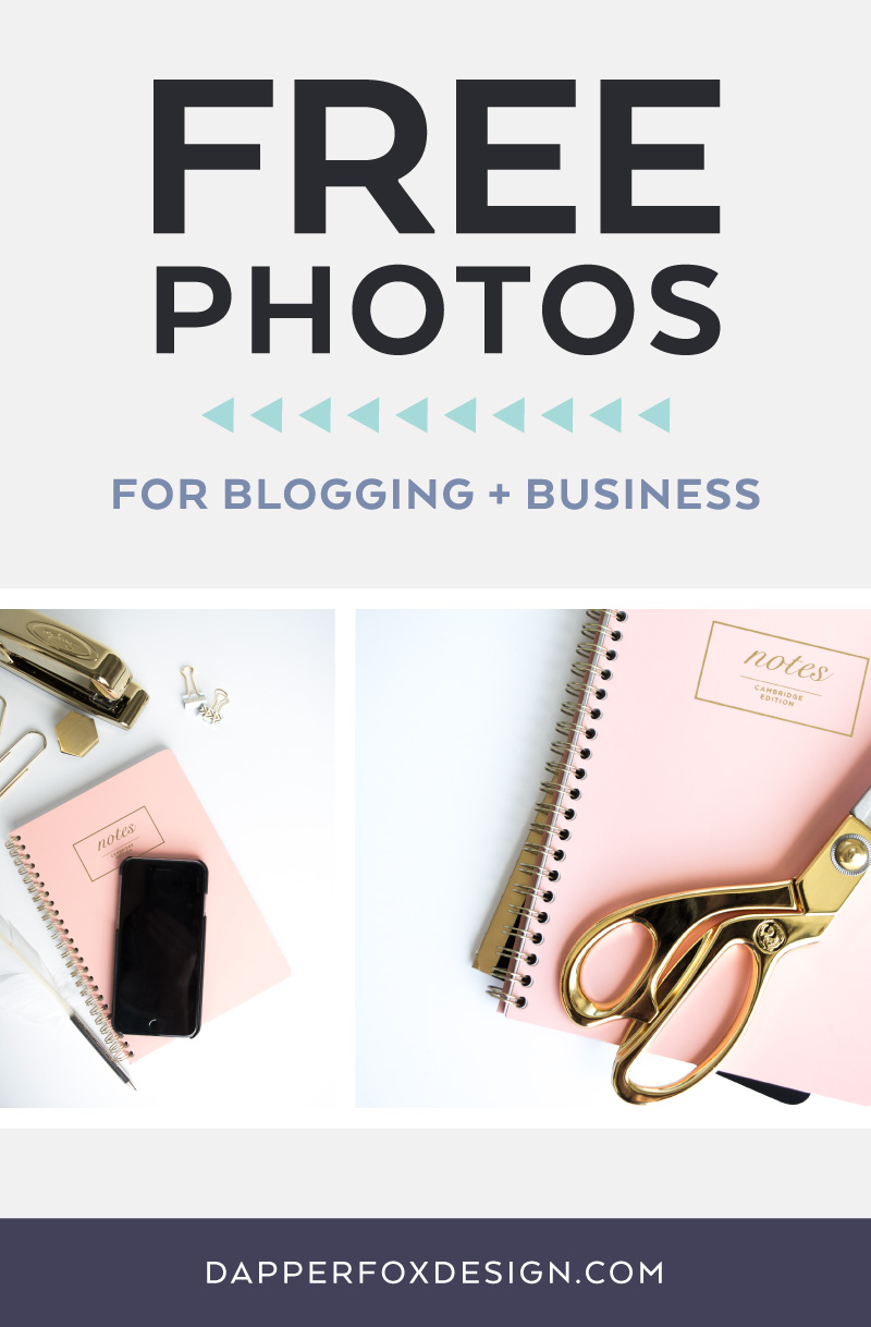 Dapper Fox Freebie Friday: Gold and Pink Office Free Photo Pack