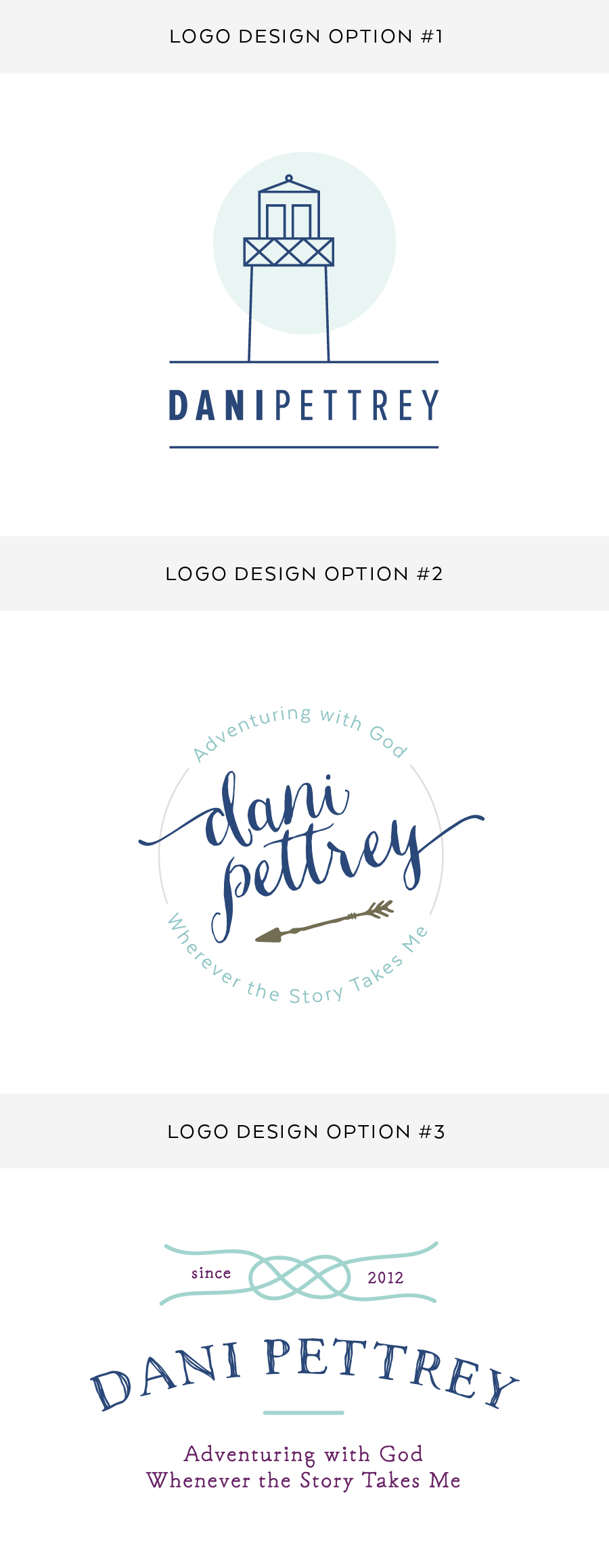 Author Dani Pettrey Brand Logo Design and   Branding - Feminine Logo Designs #Coastal #Beach #Ocean #Design #Modern Script Font Logo #arrows
