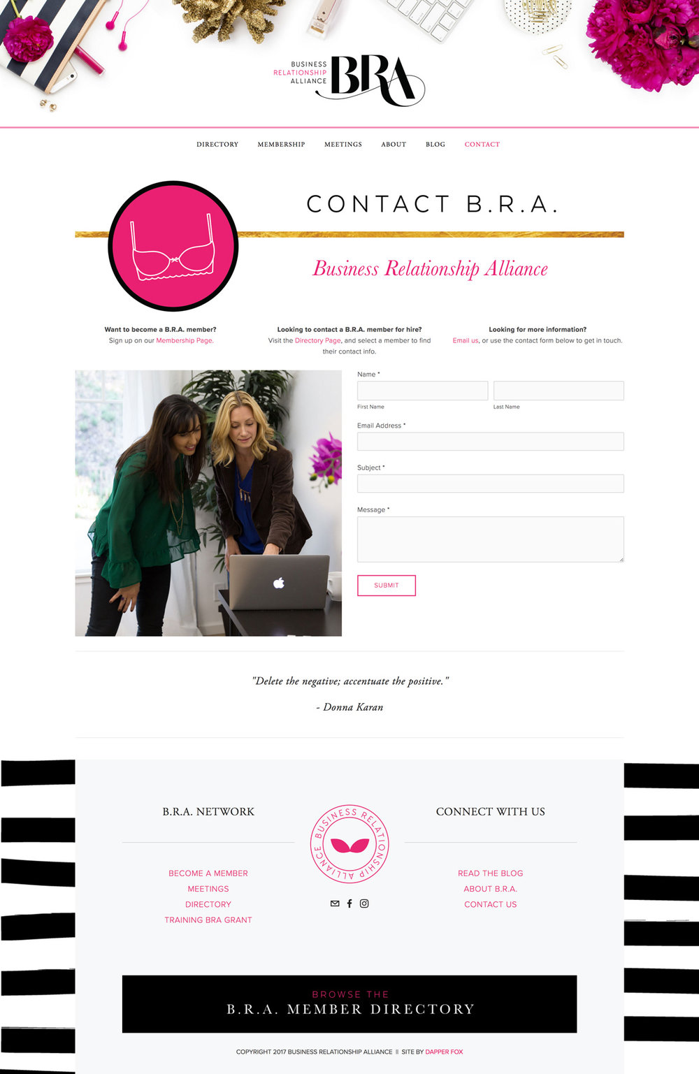 Modern and Feminine Website Design by Dapper Fox
