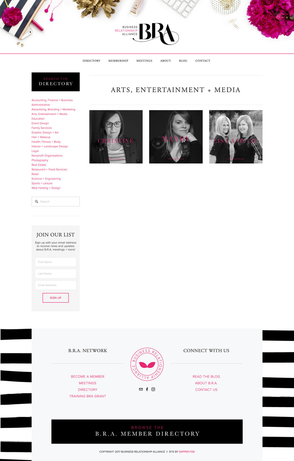 Feminine and Modern Squarespace Website Design
