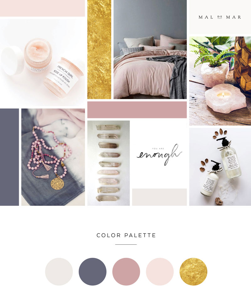 The Yoga Beauty Branding and Website Design by Dapper Fox  |  Calm, Serene, Yoga, Spa, Mandala, Nature, Pastel, Purple, Grey Branding