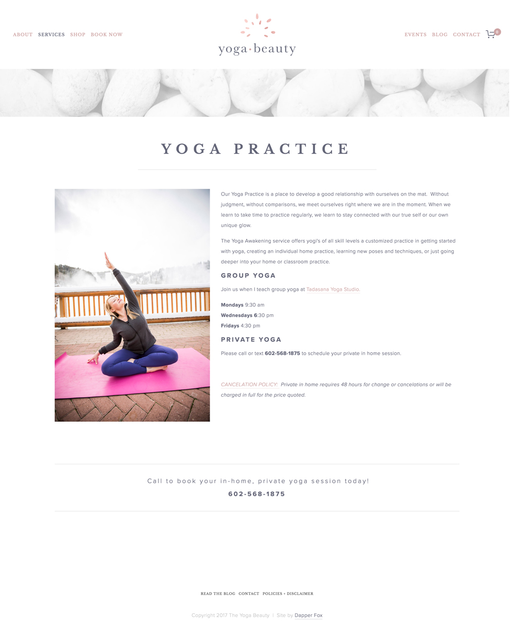 The Yoga Beauty Squarespace Website Design and Branding by Dapper Fox Design