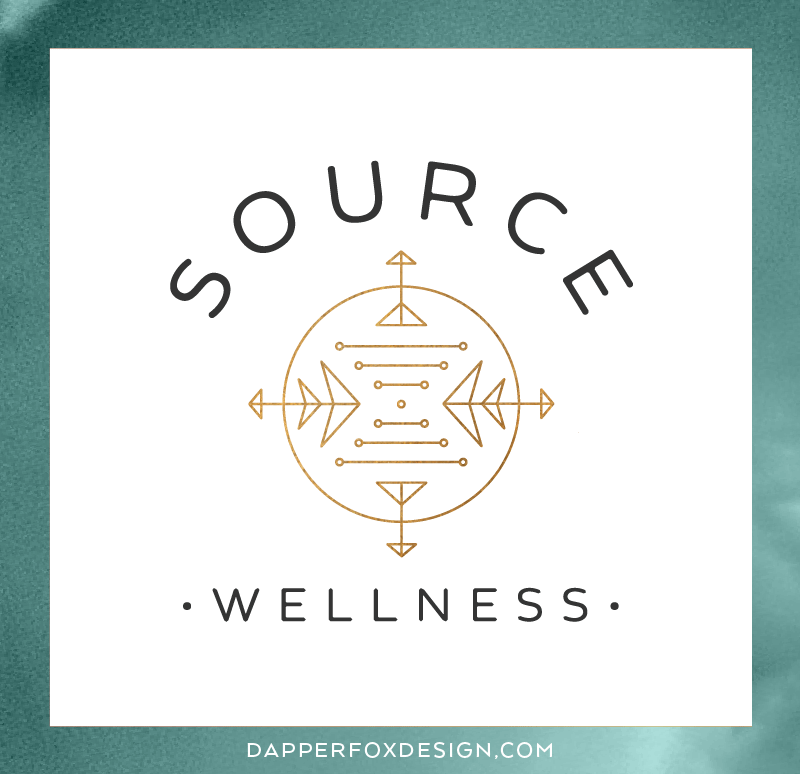 Source Wellness New York Branding Logo and Website Design by Dapper Fox  |  Calm, Serene, Acupuncture, Spa, Bronze, Nature, Teal, Aqua, Blue, Turquoise, Modern, DNA, Branding