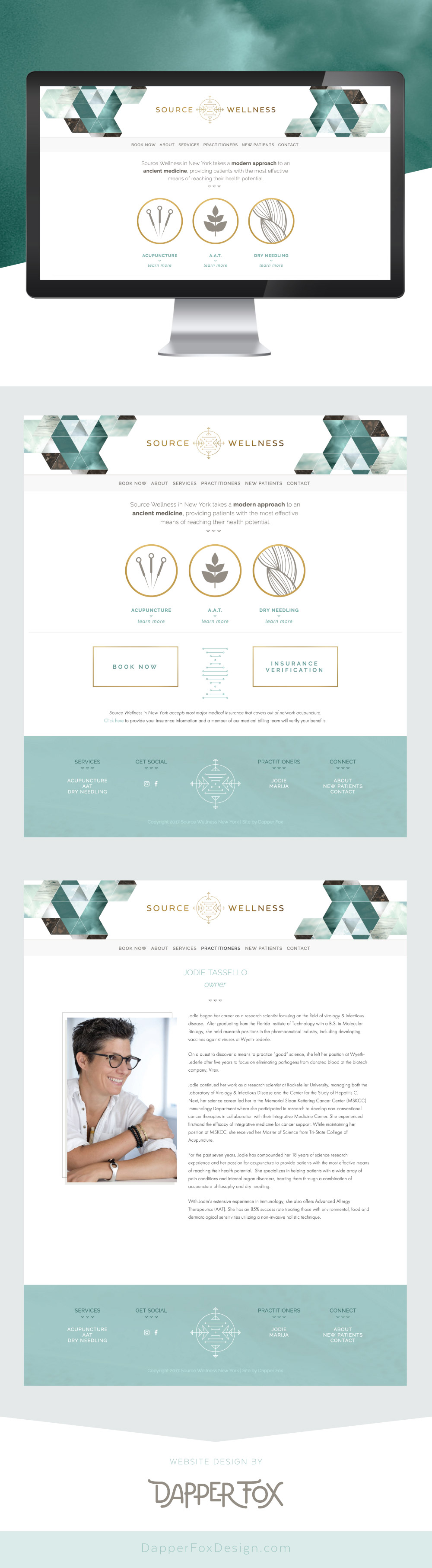 Home Page Design - Source Wellness Acupuncture New York Squarespace Website Design and Branding by Dapper Fox Design