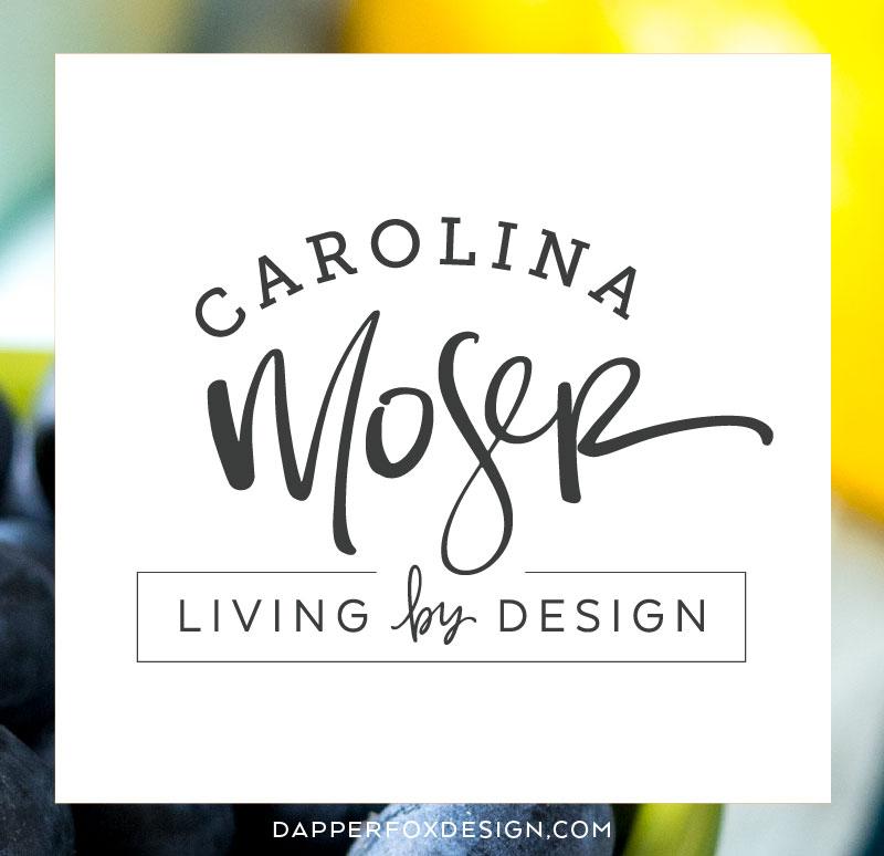 New Brand Design: Carolina Moser - Dapper Fox Design | logo concepts | logo design, logo, designer, brand designer, black and white, hand lettered, hand lettered, handwritten, calligraphy | www.dapperfoxdesign.com