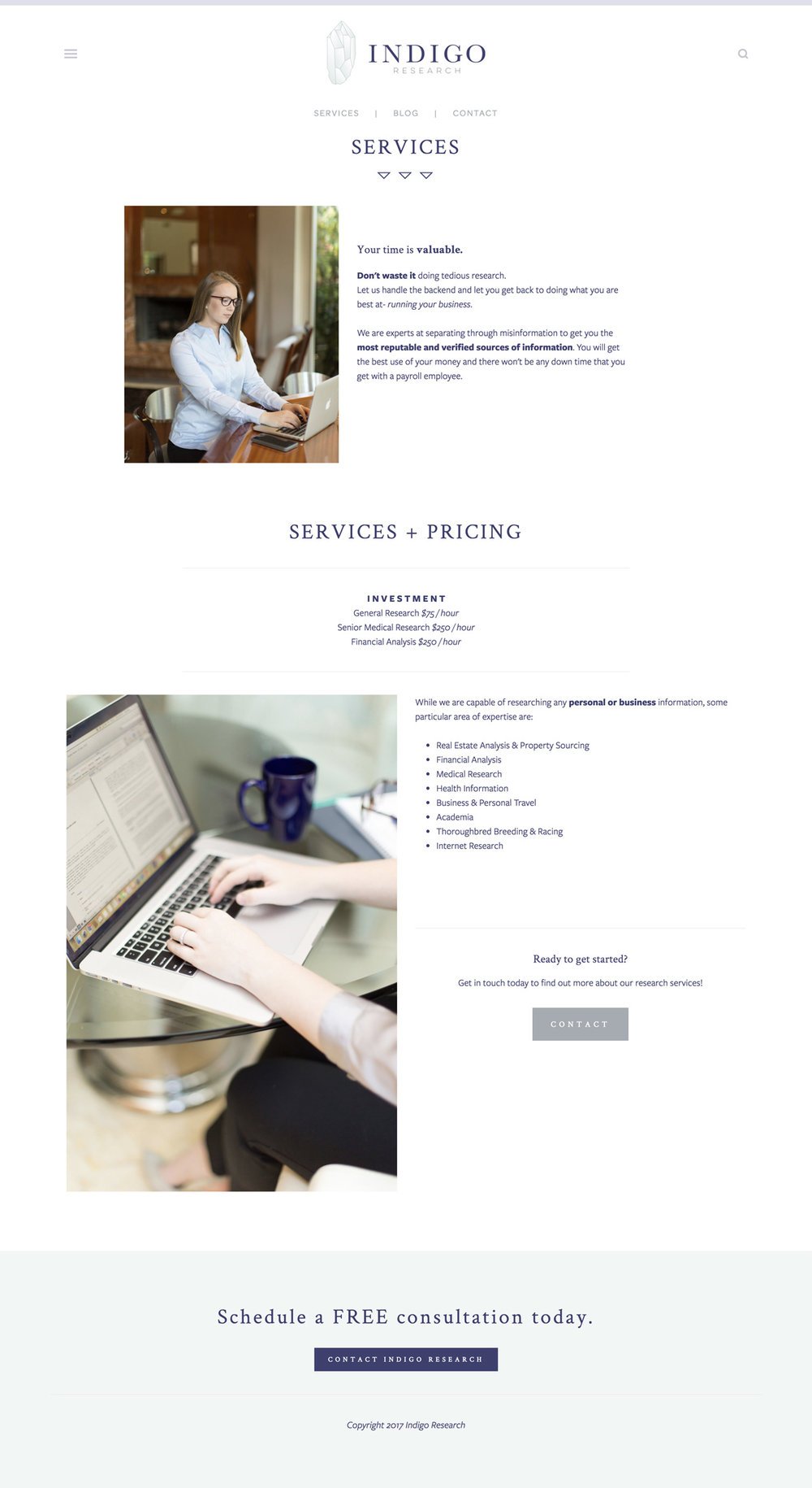 Business Research Brand and Website Design - Minimalist, Modern, Squarespace Designer for Florida