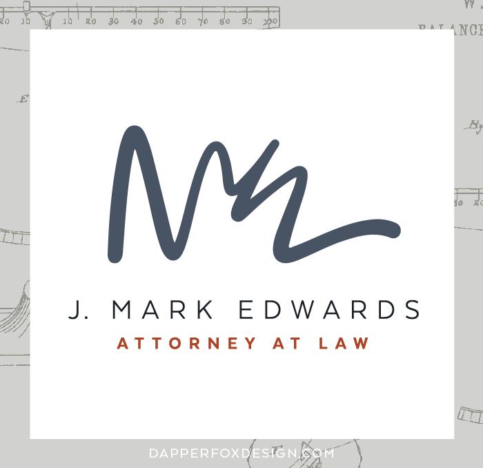Mark Edwards Utah Attorney Branding Logo and Website Design by Dapper Fox | Lawyer, professional, attorney modern business branding