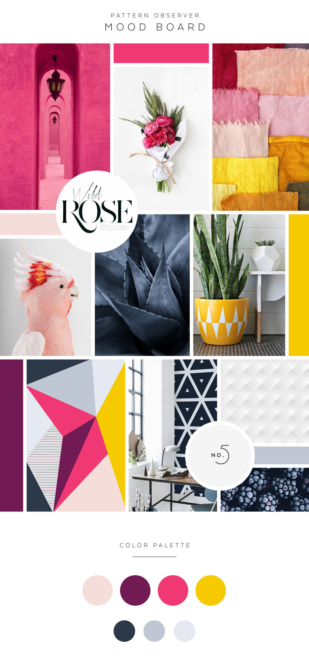 Mood Board for Pattern Observer Designer Feminine Modern Logo Design by Dapper Fox