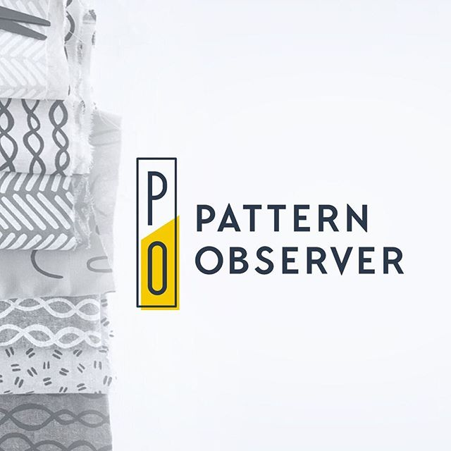 #logodesign for @patternobserver finished up a few months ago. New post up on the blog with details!
