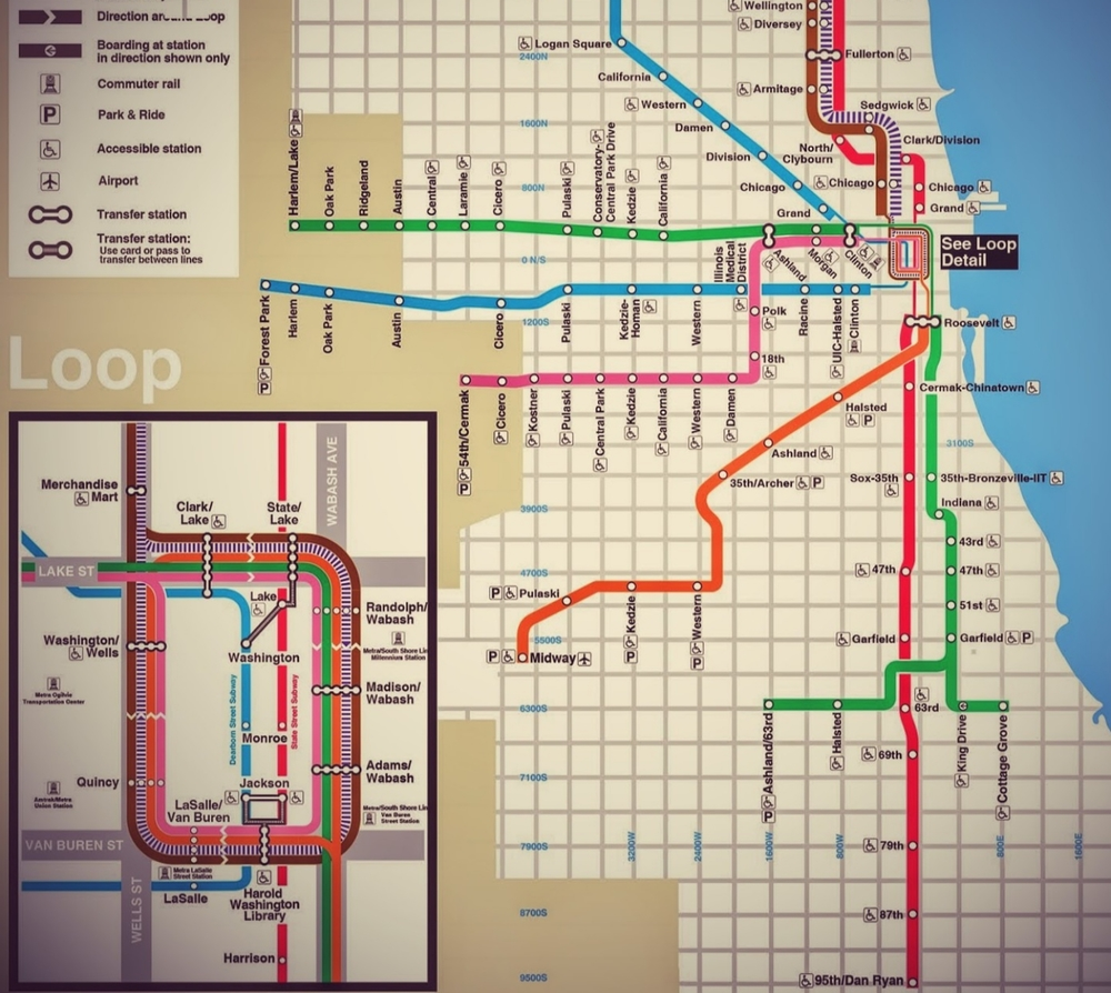 Chicago Bar Map Is The Best Not Made By CTA Thrillist Graphic - Chicago map attractions