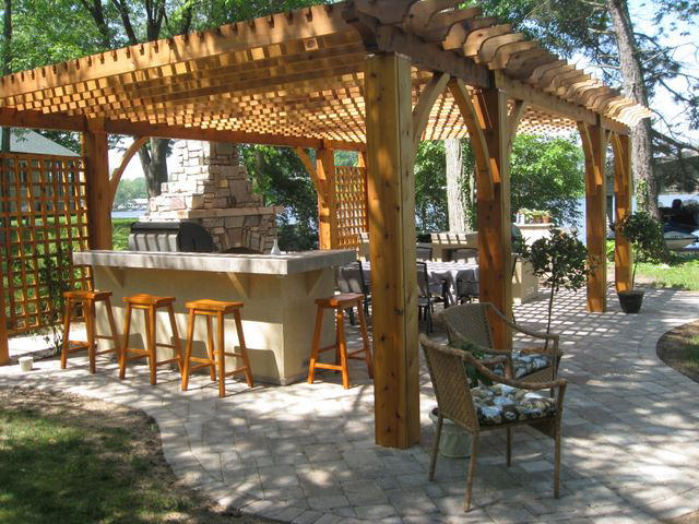 Aluminum Outdoor Fireplaces & Custom Outdoor Fireplace & shade structures & kitchen & granite top outdoor