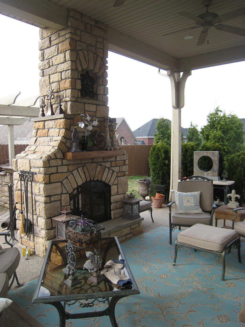 Outdoor Brick Fireplace U0026 Custom Outdoor Fireplace