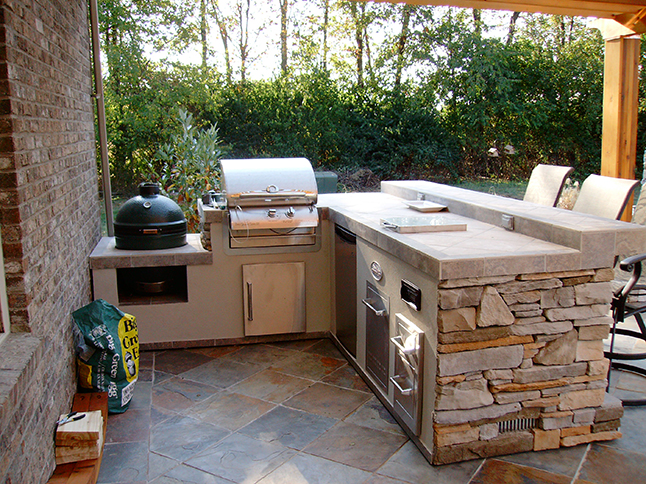 Outdoor Grill Island & Stainless Steel Outdoor & Outdoor Refrigerator & Kitchen Islands & Granite Top Outdoor & Kitchens